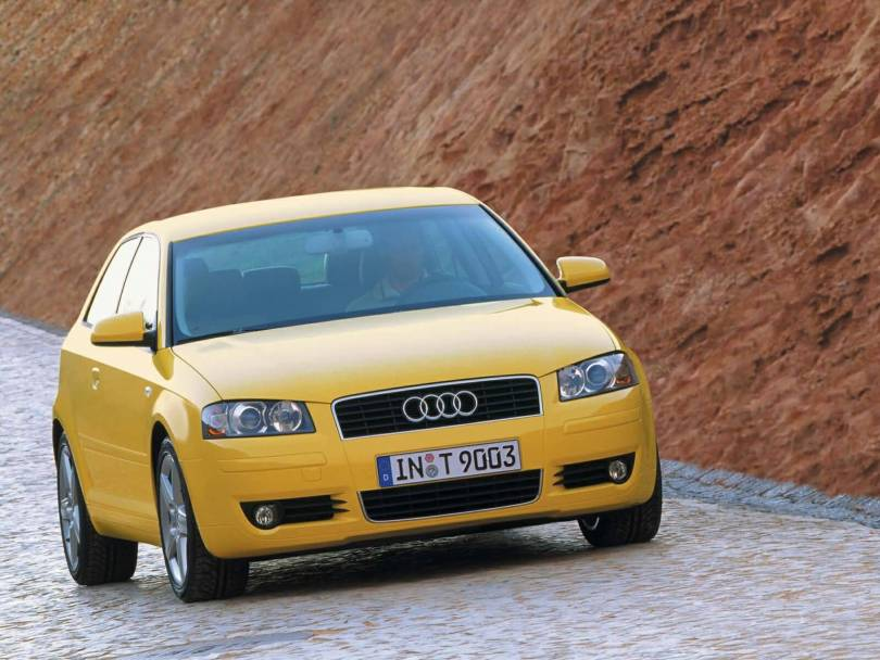 Front side view of wonderful Audi A3 car