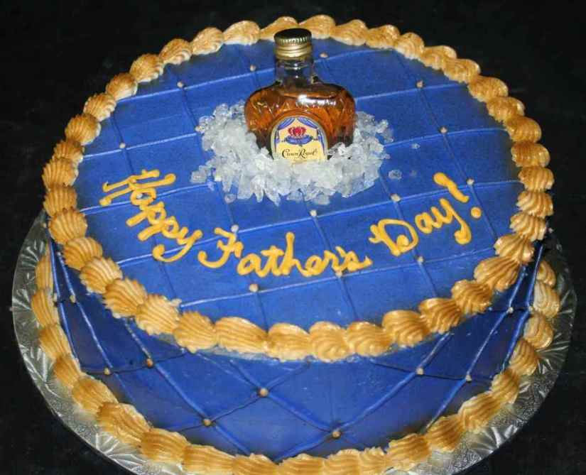 Funny Happy Father's Day Cake Image