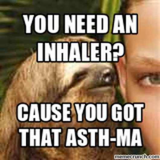 Funny Sloth Whisper Memes You need an inhaler cause you got that