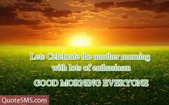 Good Morning Everyone Greetings Message Image