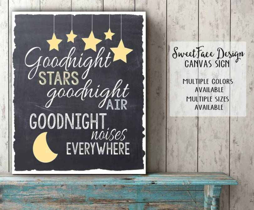 Goodnight Moon Quotes Goodnight stars goodnight air goodnight noises everywhere
