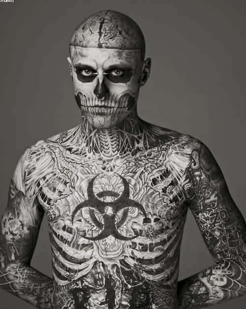 Great Zombie Tattooed Body