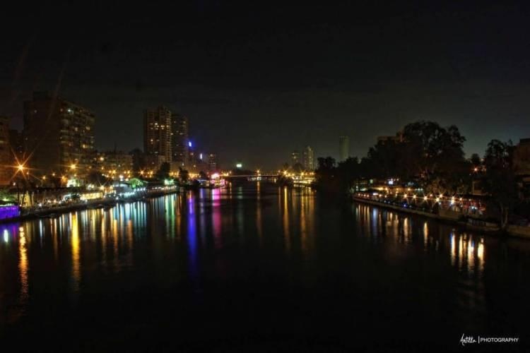 Great cairo egypt at night Full HD Wallpaper