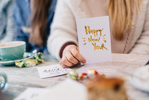 Greetings Card For Happy New Year Friends