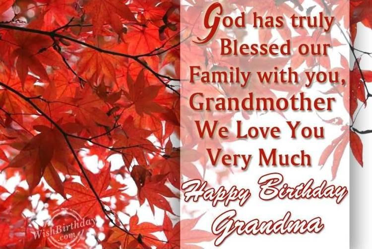 Happy Birthday Grandma God Bless Wishing