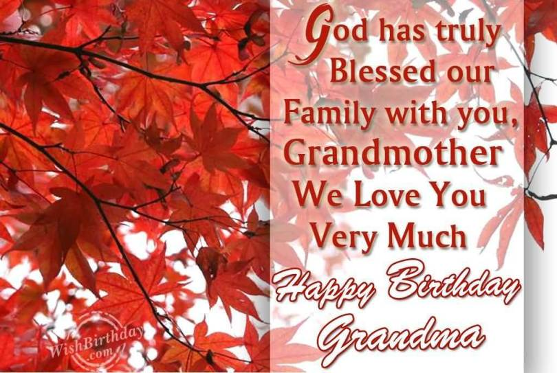 Happy Birthday Grandma God Bless Wishing