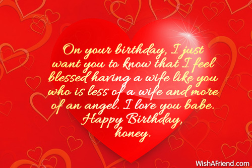 Happy Birthday Honey Beautiful Quotes Image