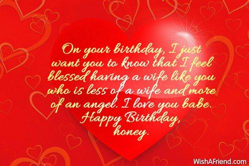 Happy Birthday Honey Beautiful Quotes Image