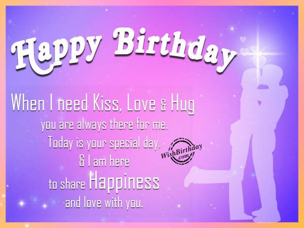 Happy Birthday I Am Here To Share To Share Happiness And Love With You Greeting Image