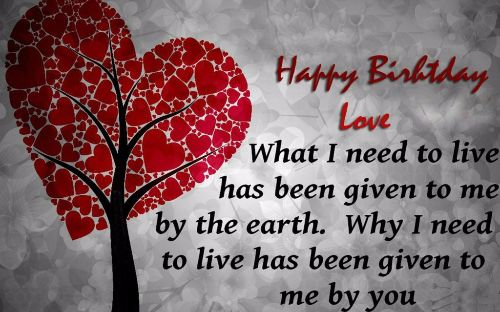 Happy Birthday Love Wishes Image