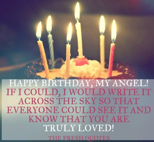 Happy Birthday My Angel Truly Loved Greeting Card For Sweetheart
