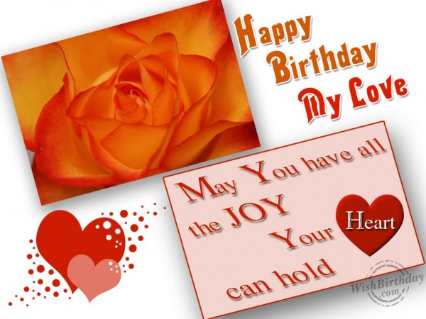 Happy Birthday My Love Greeting E Card