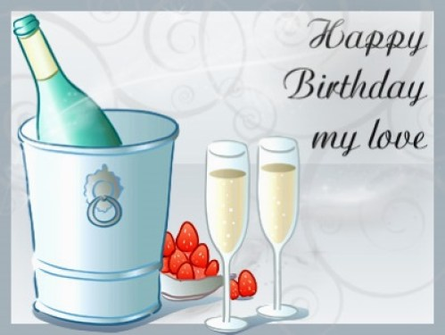 Happy Birthday My Love Greetings Image