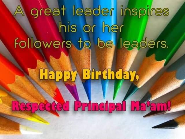 Happy Birthday Respected Principal Ma'am Greeting Image