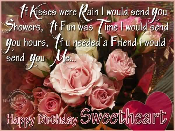Happy Birthday Sweetheart Wonderful Greeting Picture