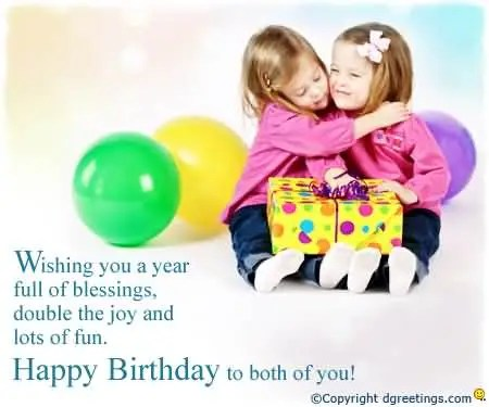 Happy Birthday To Both Of You Wishes Image