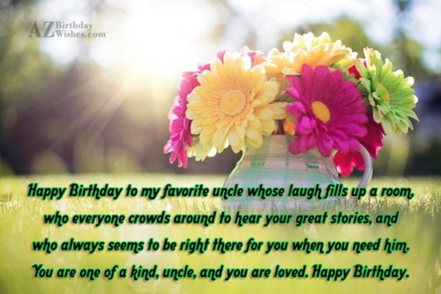 Happy Birthday To My Favorite Uncle Wishes Image