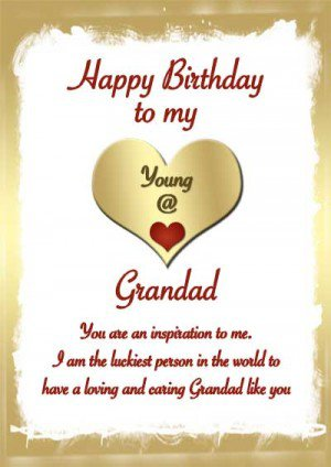 Happy Birthday To My Grandad Have A Great Day Wishes Image