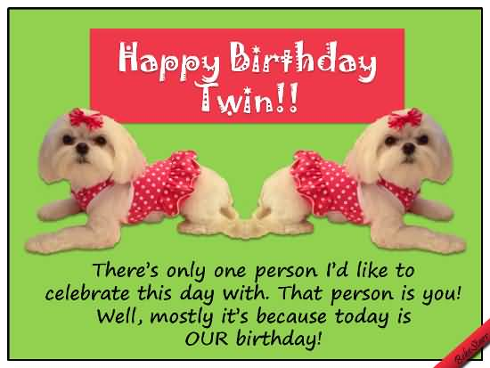 Happy Birthday Twins Celebrate This Day Wishes Image