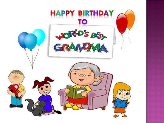 Happy Birthday World's Best Grandma Wishes Image