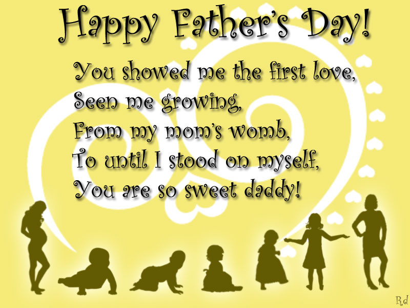 Happy Father's Day You Showed Me The First Love Seen Me Growing Image