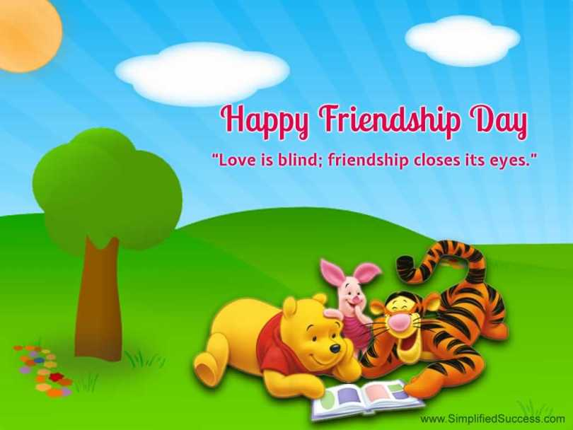 Happy Friendship Day Love Is Blind Greetings Image
