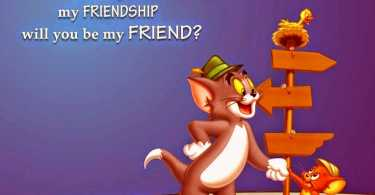 Happy Friendship Day Tom & Jerry Greetings Imge