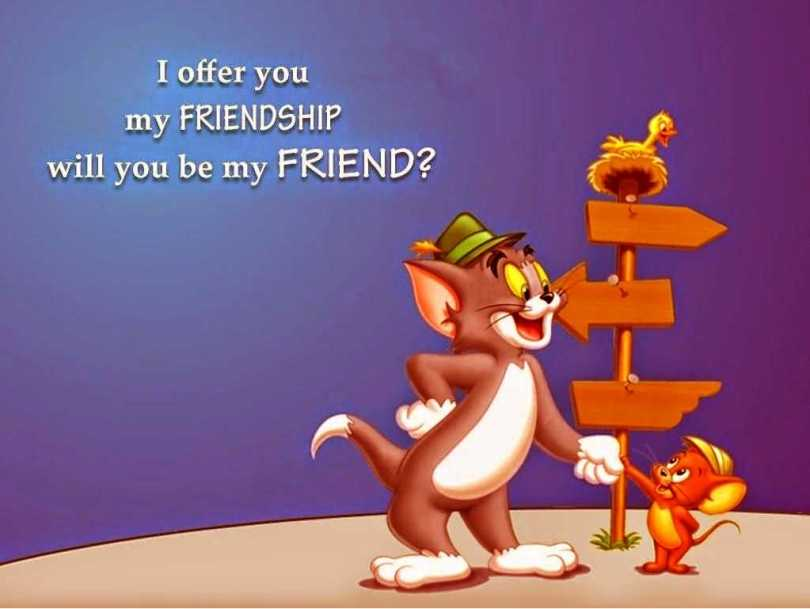 Happy Friendship Day Tom & Jerry Greetings Image
