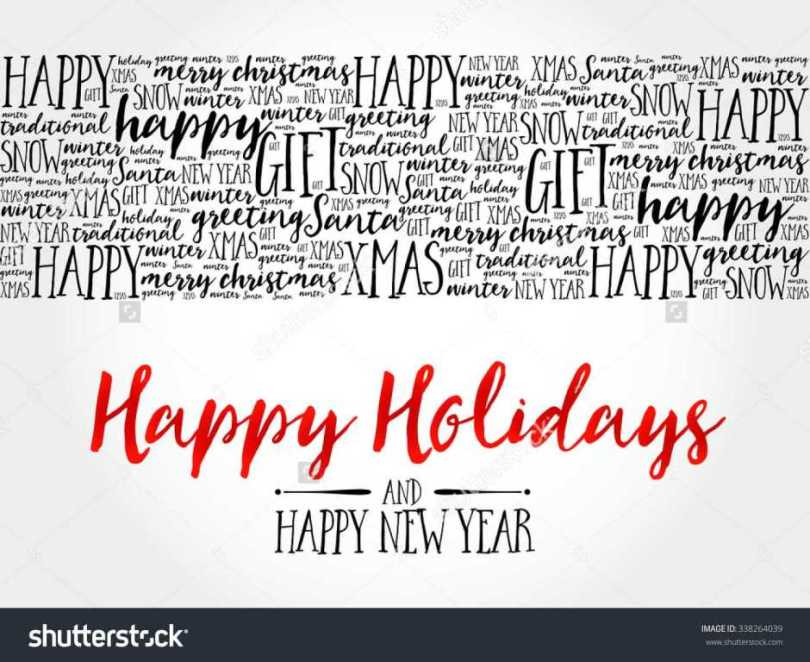 Happy Holiday And Happy New Year Wishes Image