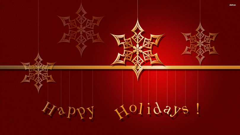 Happy Holiday Red Color Wishes Image