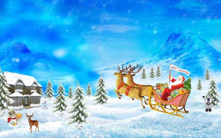 Happy Holiday Winters Wallpaper Image