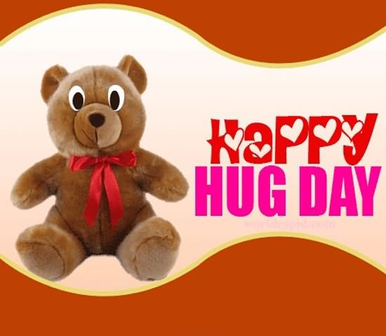 Happy Hug Day Teddy Bear For Facebook Image