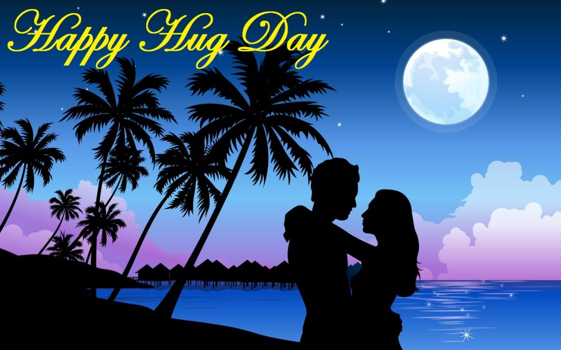 Happy Hug Greeting Picture For Love