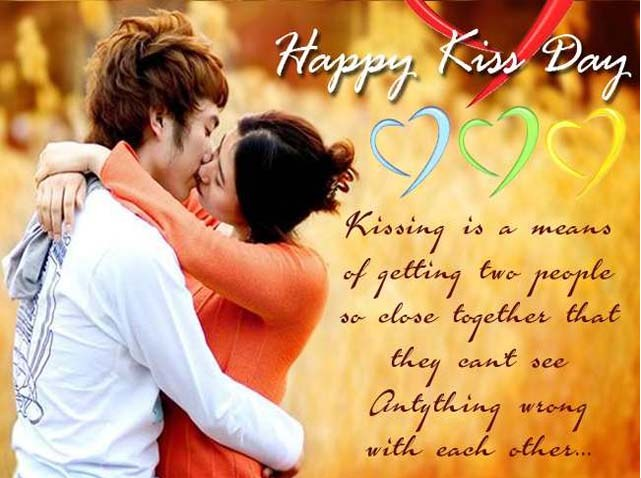 Happy Kiss Day Greeting Message Image