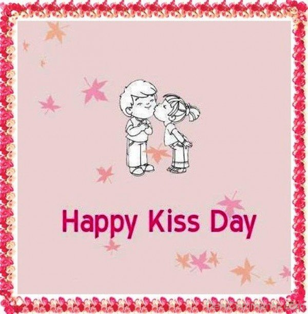 Happy Kiss Day Wishes Card Image