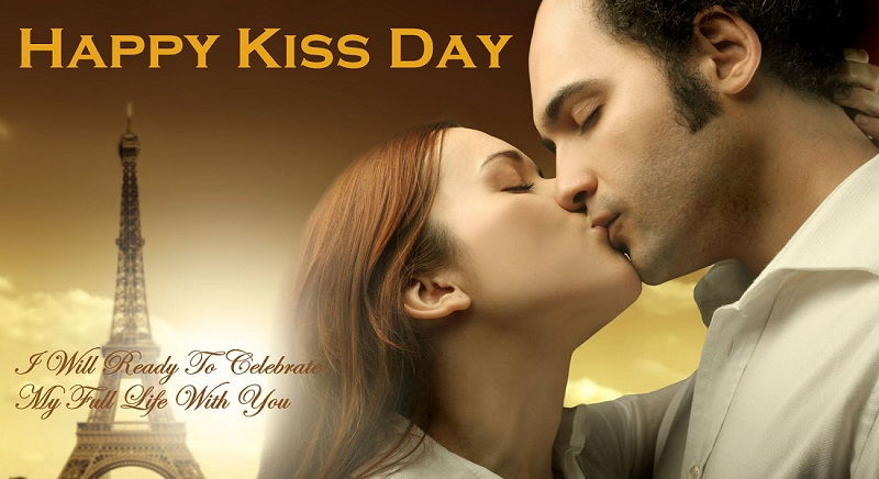 Happy Kiss Day Wishes Quotes & Wallpaper