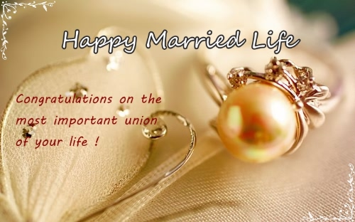 Happy Married Life Greeting Image