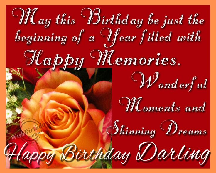 Happy Memories Happy Birthday Darling Beautiful Greeting Picture