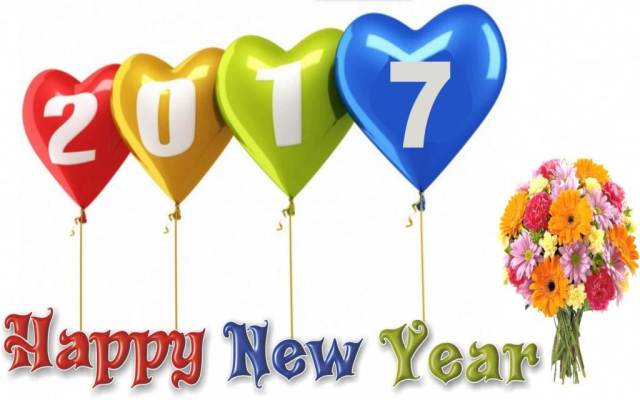 Happy New 2017 Year Wishes Greetings Image