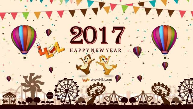 Happy New Year 2017 Greeting Image