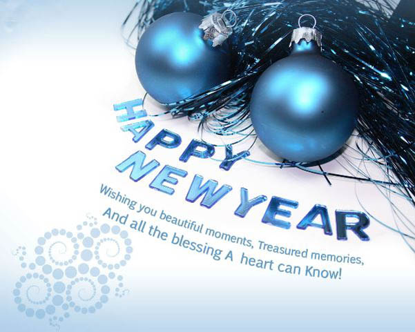 Happy New Year All The Best Blessing Image