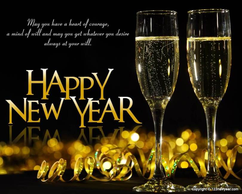Happy New Year Greetings Hd Wallpaper Download