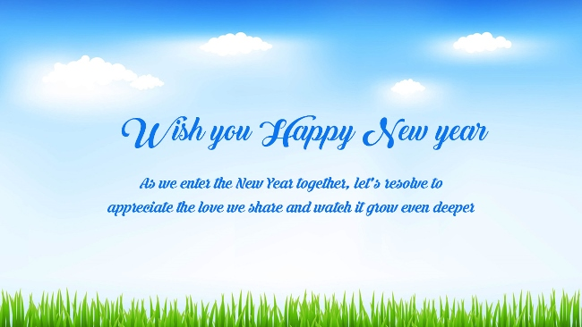 Happy New Year Greetings Message Wallpaper