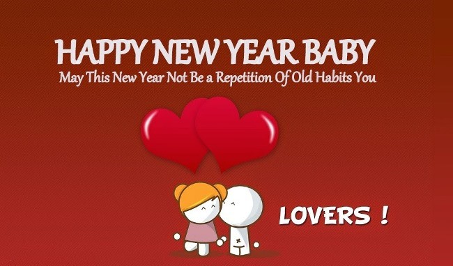 Happy New Year Lover Wishes Message Image