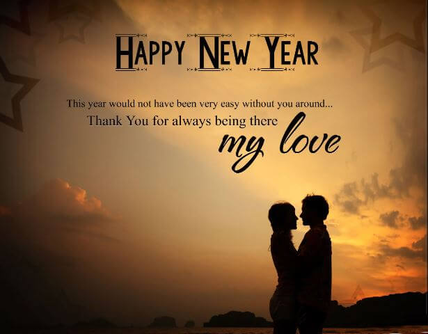 Happy New Year My Love Wishes Quotes Image