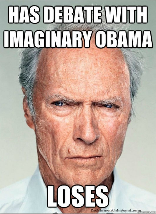 Has Debate With Imaginary Obama Loses Funny WTF Memes