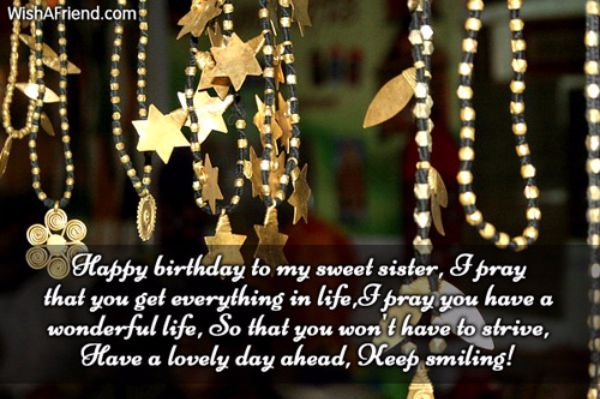 Have A Lovely Day Happy Birthday Sister Wishes Message