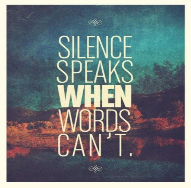 Hipster Quotes silence speaks when words can't