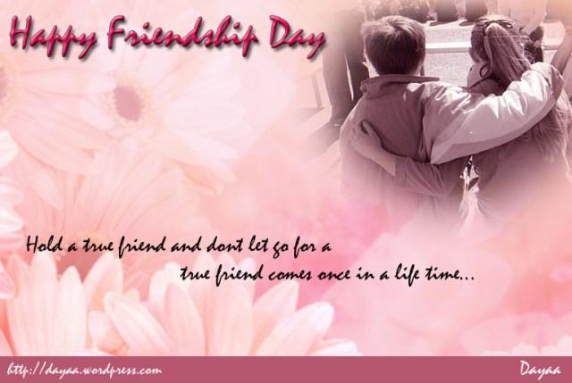 Hold A True Friend Happy Friendship Image