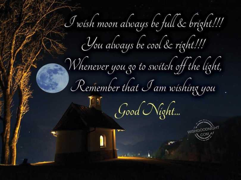 I Am Wishing You Good Night Message Image